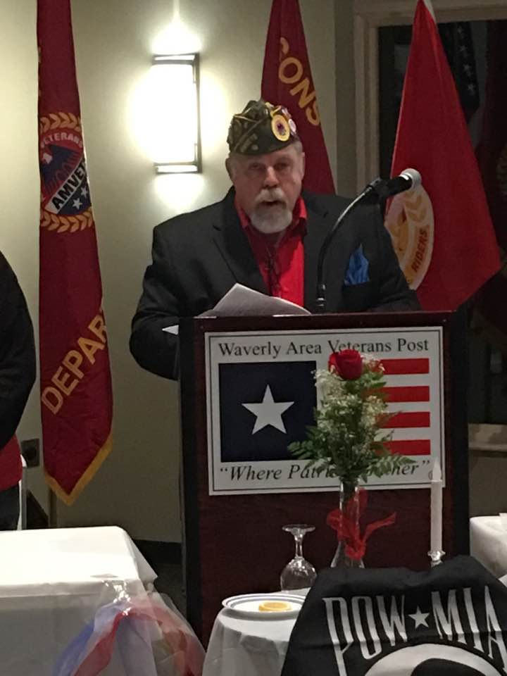 Gary Phillips during POW Mia ceremony