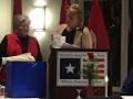 Mary Van Horn presenting gift